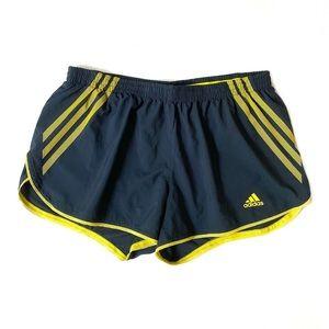 Adidas Climacool navy yellow track running shorts
